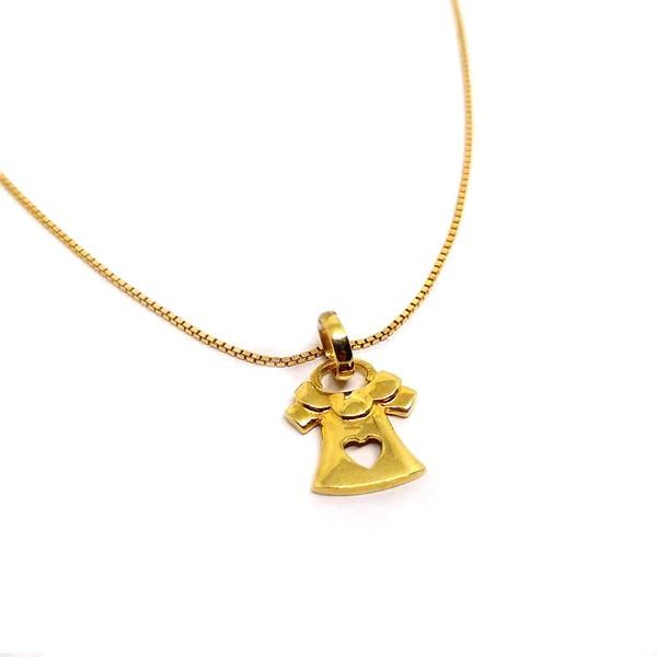 Pingente em Ouro 18k Amarelo Vestido