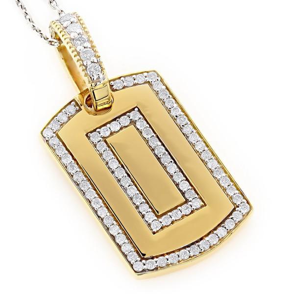 Pingente Placa Cravejada com Diamantes