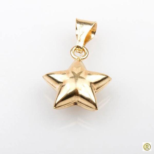 Pingente 18k Estrela Desenhada