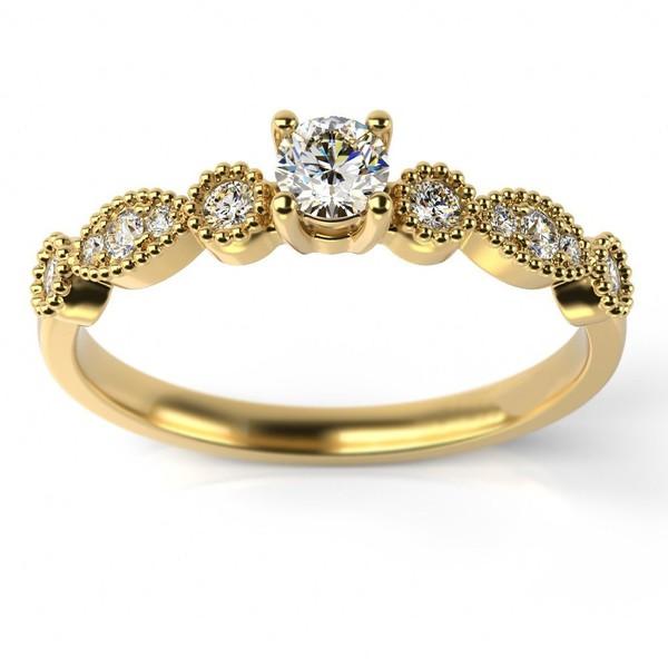Solitário em Ouro 18k com Diamantes