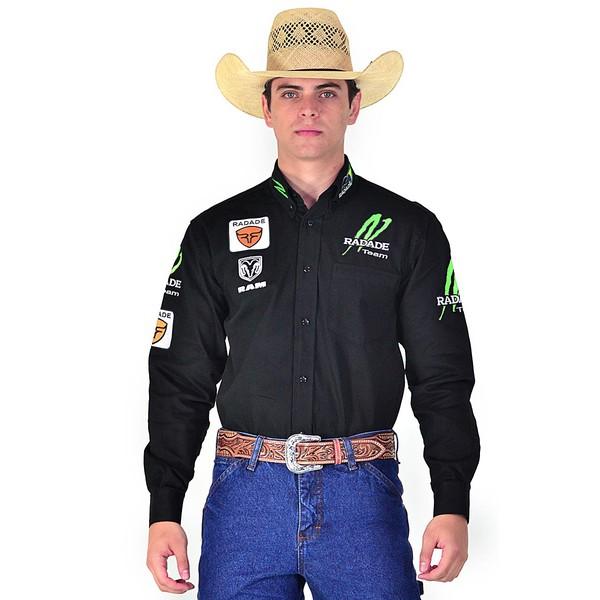 Camisa Country Masculina Radade Preta