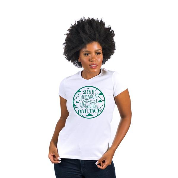 Camiseta Baby Look Adra Seja a Mudança