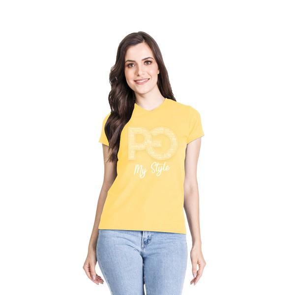 Camiseta Baby Look PG My Style Amarela