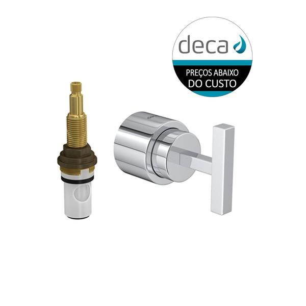 Acabamento para Registro de Pressão com Mecanismo MVR (½ volta) Stick 4916.C84.PQ Deca