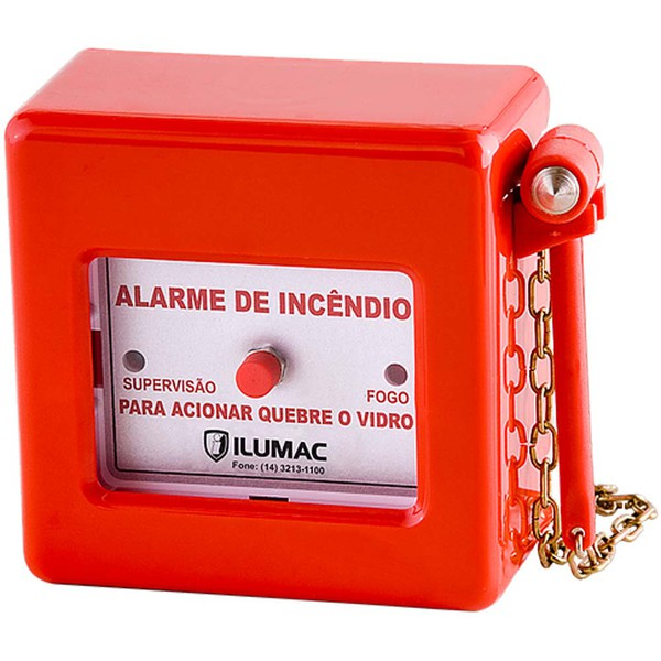 Acionador Manual de Alarme de Incêndio AM-C Ilumac