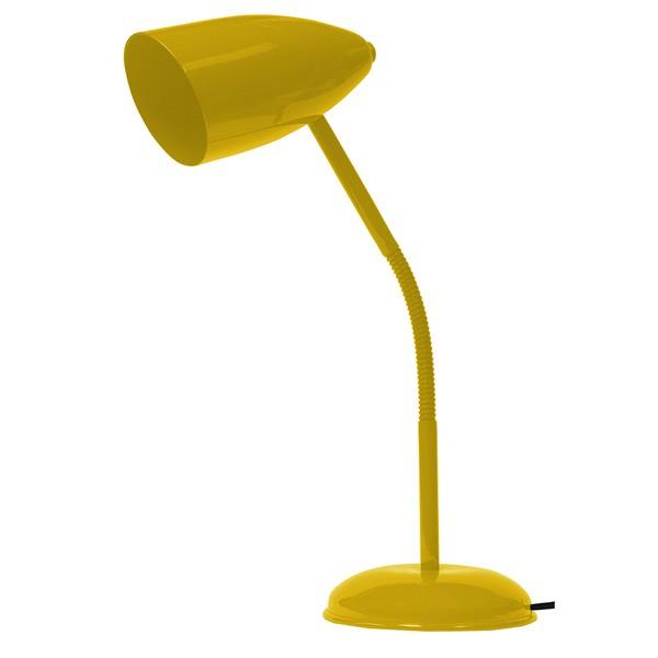 Luminária Flexível de Mesa Para 1 Lâmpada E27 Amarela