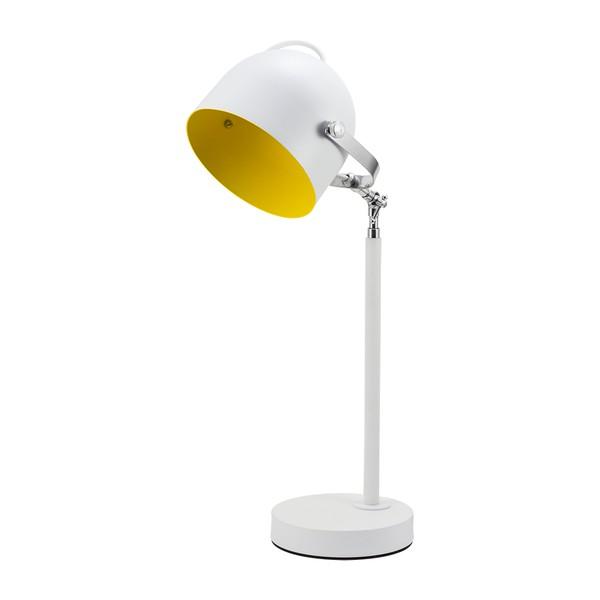 Luminária de Mesa para 1 Lâmpada E27 Branco/Amarelo SpotLine