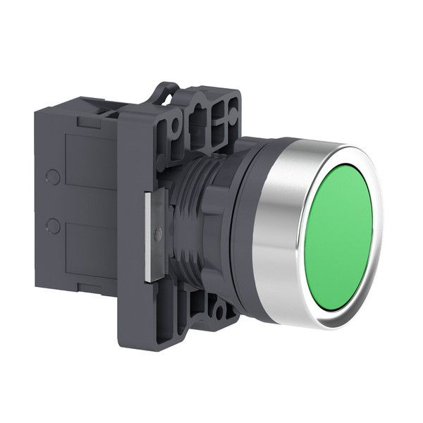 Botão 22mm Plástico a Impulsão 1NA Verde XA2EA31 Schneider