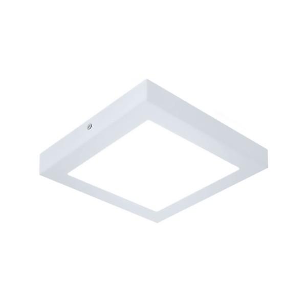 Plafon de LED Sobrepor Recuado 16x16cm Quadrado 12W Branco Frio
