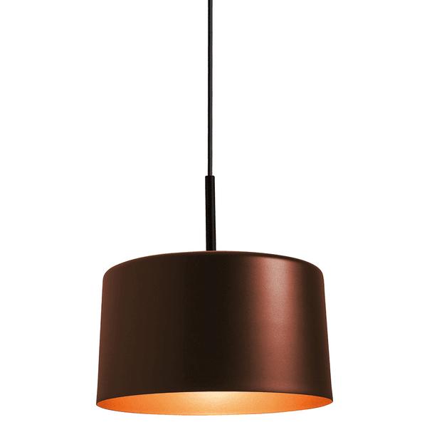 Pendente Bilboquê Grande Para 1 Lâmpada E27 35cm Cobre escovado (externo) Cobre (interno)