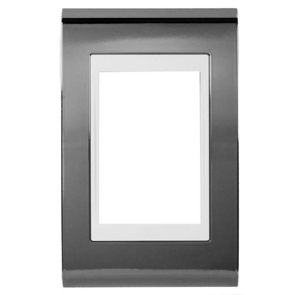 Placa 4x2 para 3 Módulos 13978147 Titânio e Branco Refinatto Weg