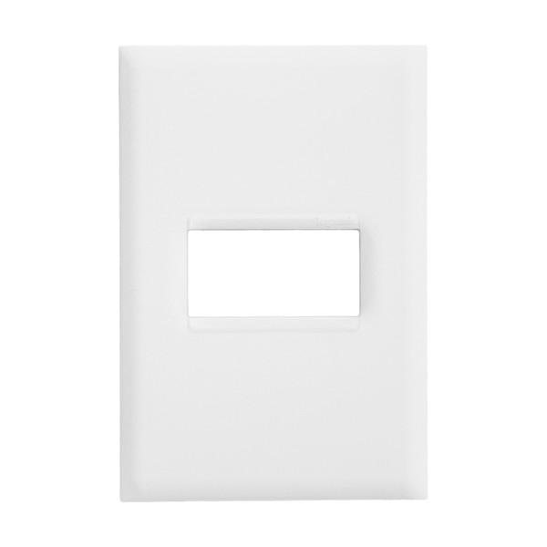 Placa 4x2 para 1 Módulo Horizontal 618501BC PialPlus+ Pial