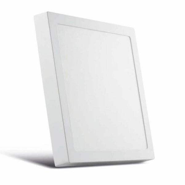 Plafon de LED Sobrepor 22x22cm Quadrado 20W Branco Neutro