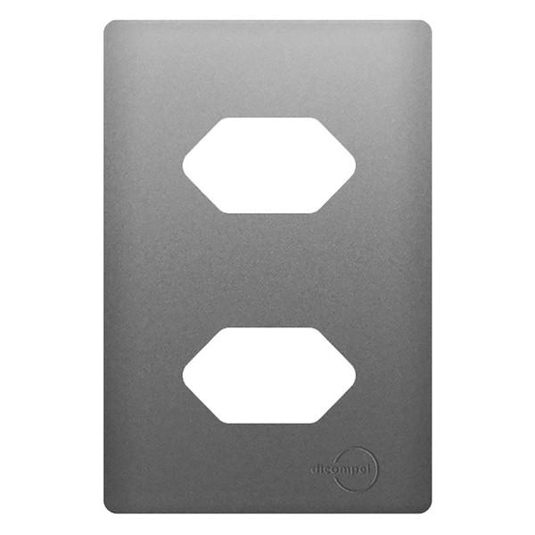 Placa 4x2 com Suporte para 2 Tomadas Horizontais AC1500/68 Dicompel