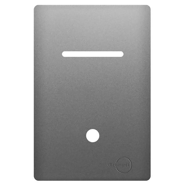 Placa 4x2 com Suporte para 1 Interruptor Horizontal + 1 Saída de Fio AC1500/128 Dicompel