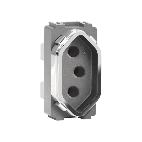 Módulo Tomada 2P+T 10A AC1500/70 Dicompel