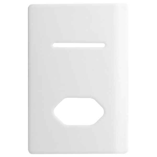 Placa 4x2 com Suporte para 1 Interruptor + 1Tomada Horizontais DC1100/78 Dicompel