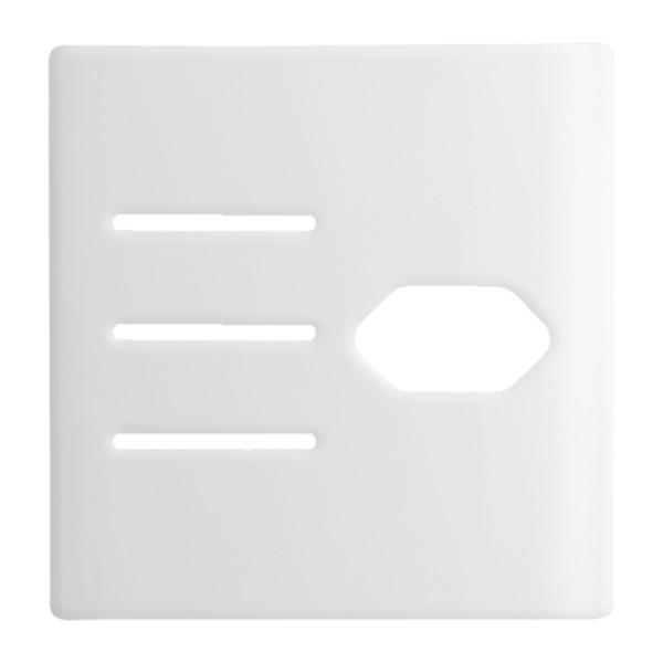Placa 4x4 com Suporte para 3 Interruptores + 1Tomada DC1100/108 Dicompel