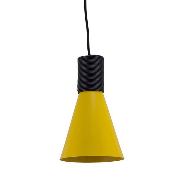 Pendente Fuji M Premium para 1 Lâmpada E27 Ø15,5cm x 24cm Amarelo