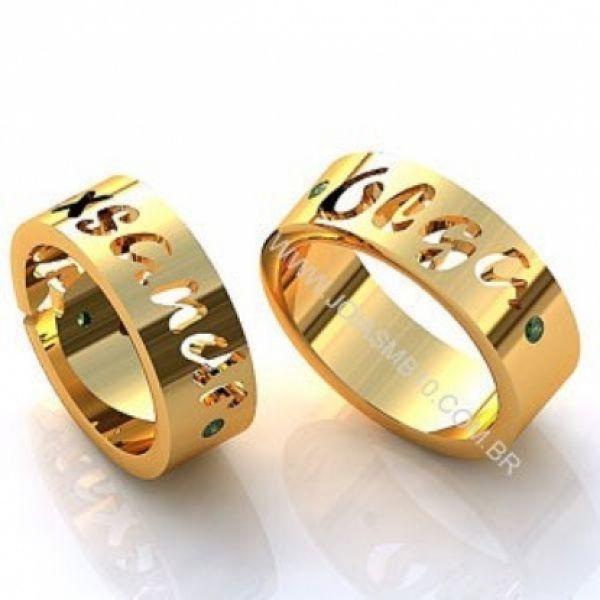 Alianças de Casamento Nome Vazado