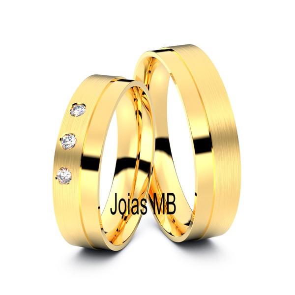Alianças de Ouro Jaboatão dos Guararapes 3 mm