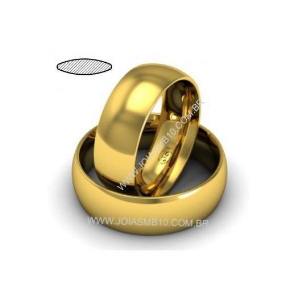 Alianças de Ouro Anatômica Rio Branco 11mm
