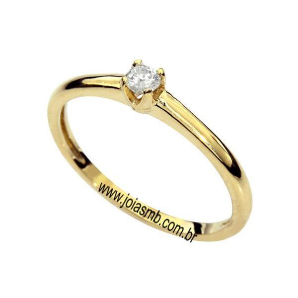 Anel Solitário de Diamante São João de Meriti