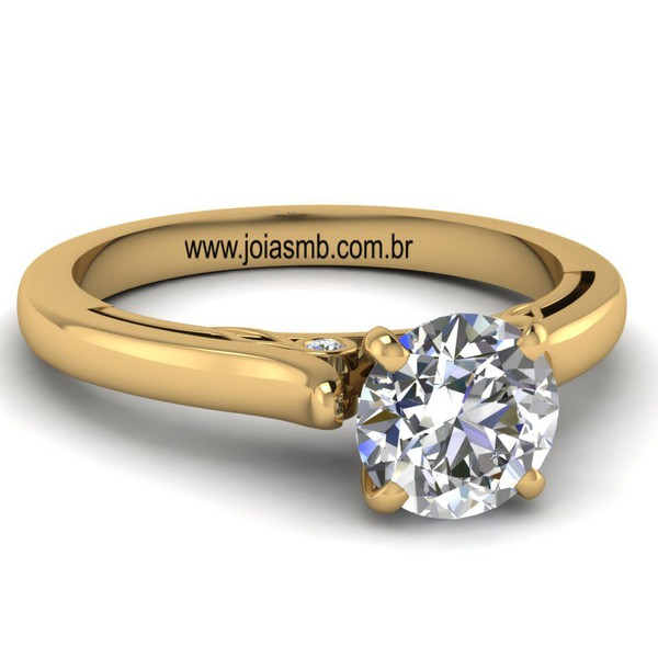 Anel Solitário de Diamante Pelotas