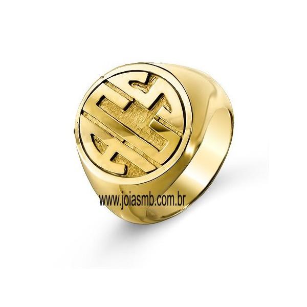 Anel de Ouro Masculino Diadema
