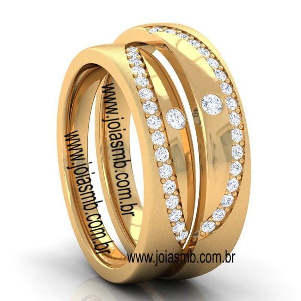 Alianças de Casamento Três Pontas