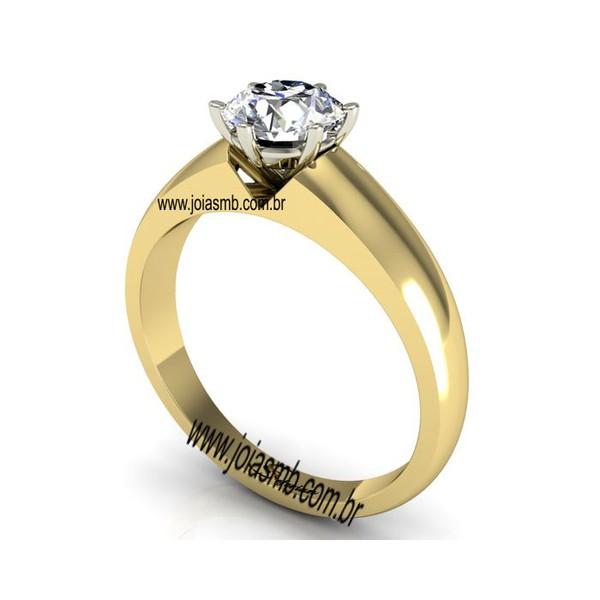 Anel Solitário de Diamantes São José dos Campos