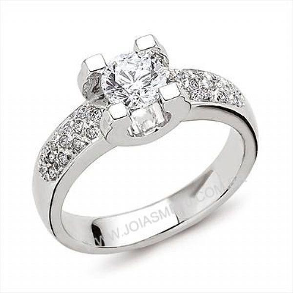 Anel Solitário de Diamantes Sao Gonçalo
