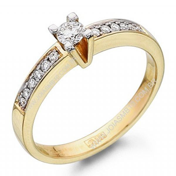 Anel Solitário de Diamante Niterói