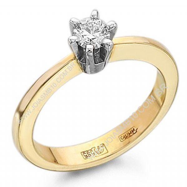Anel Solitário de Diamante Sorocaba