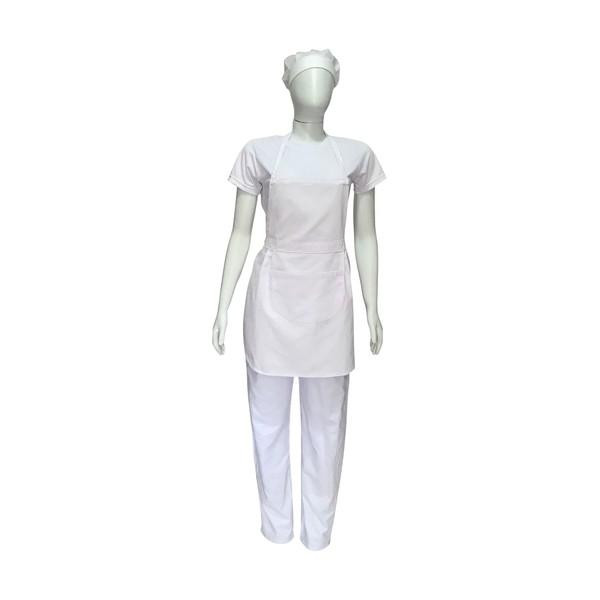 Kit Profissional - Avental, Touca, Camiseta e Calça