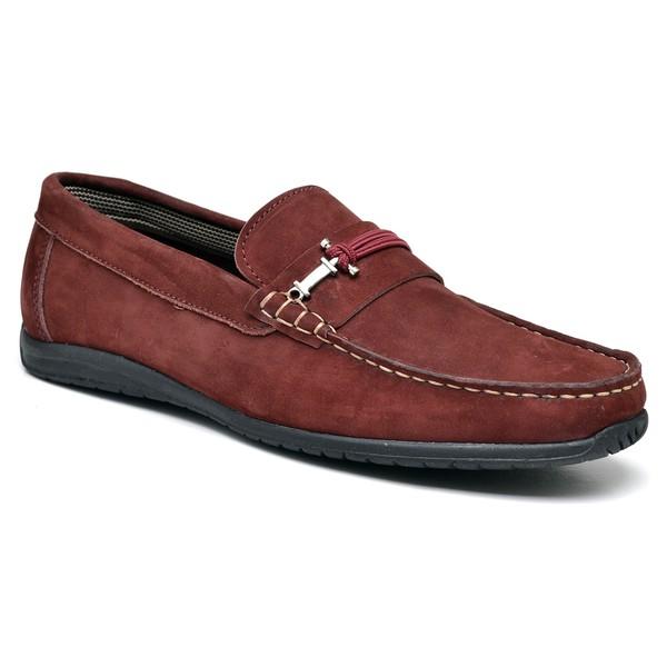 Sapato Mocassim 4011Nobuck Vinho