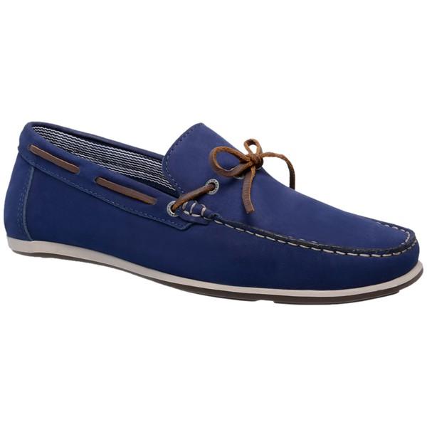 Sapato Mocassim Nobuck Linha Madri 600 – Azul Bic