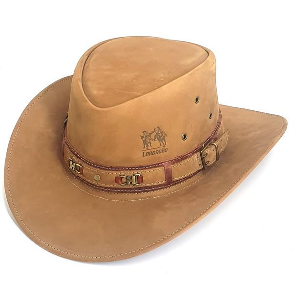Chapéu de couro bovino 100% original modelo Australiano Copia
