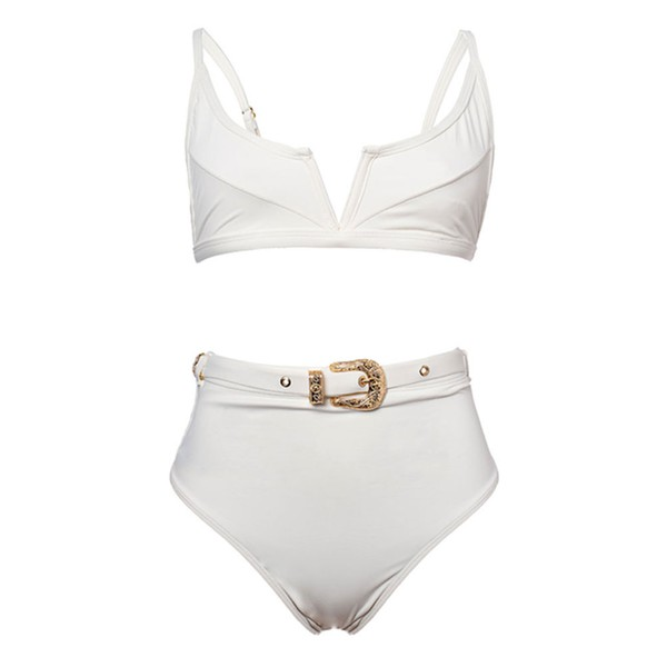 Classic - Biquíni Hot Pants Off White