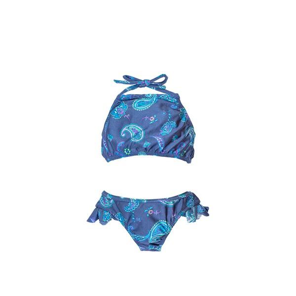 Paisley Azul - Biquíni Infantil