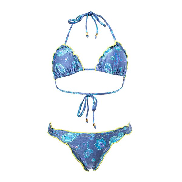Paisley Azul - Biquini Ripple Calcinha Inteira