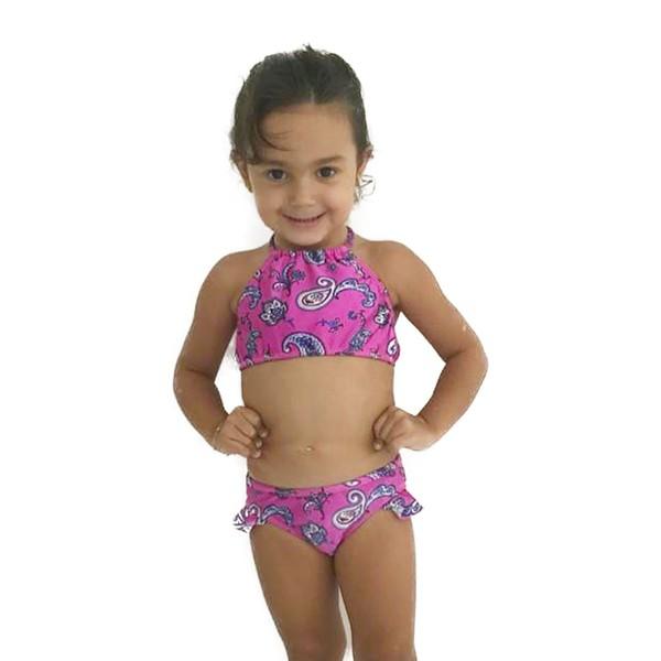 Paisley Rosa - Biquini Infantil