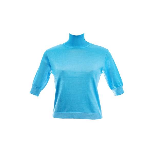 Blusa Liza Tricot Rayon Azul