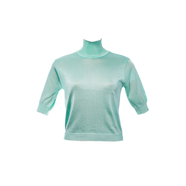 Blusa Liza Tricot Rayon Verde Água