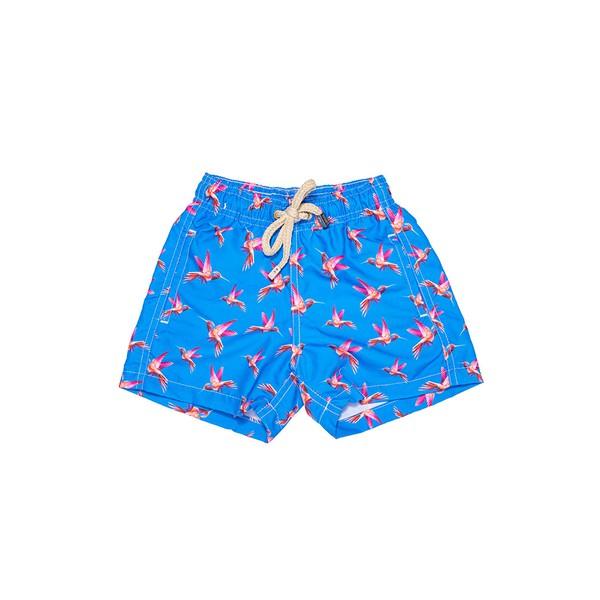 Beija-Flor Azul - Shorts Infantil