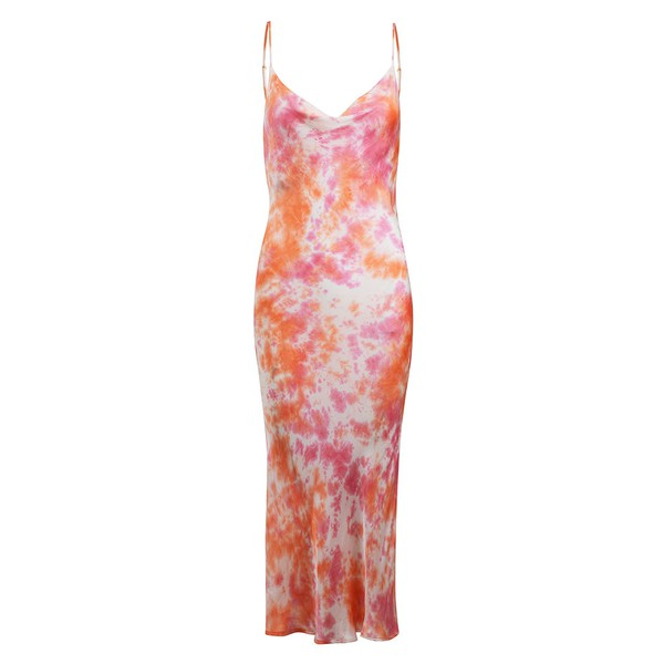 PRÉ VENDA - Slip Dress Tie Dye Coral