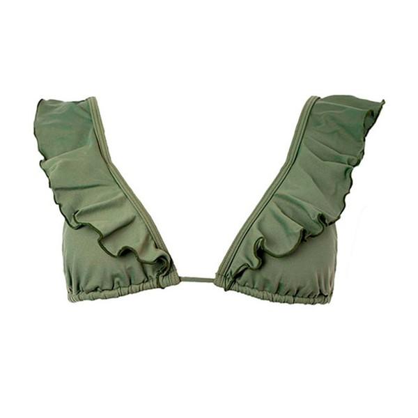 Colors Verde Militar - Top Babado