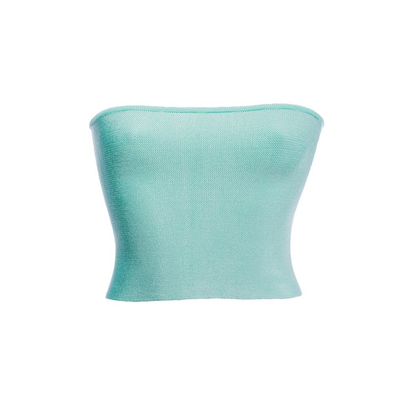 Top Emma Tricot Rayon Verde Água