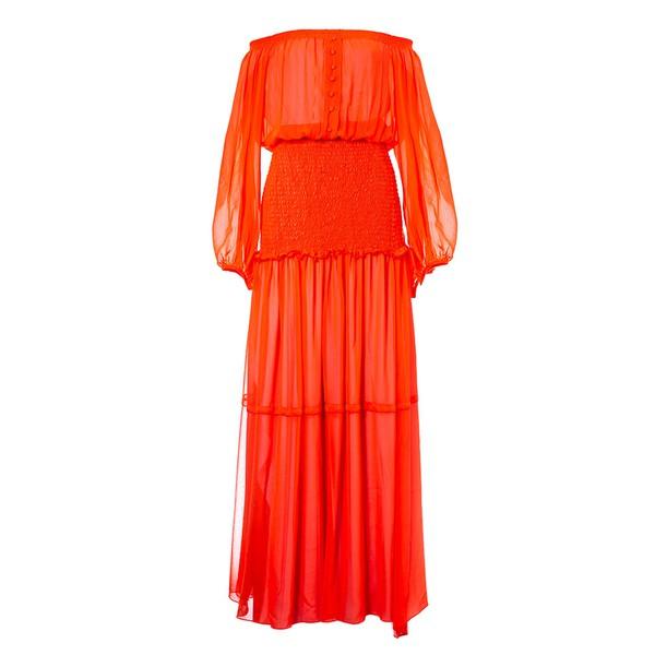 Vestido Sofia Laranja Neon