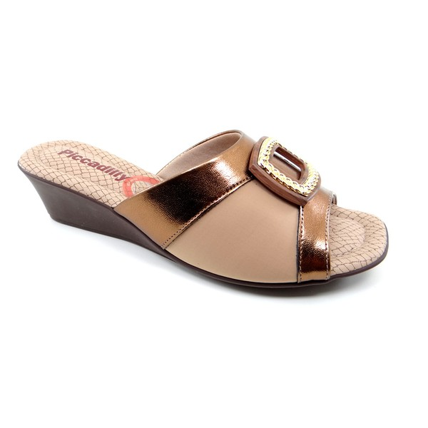 Tamanco Feminino Piccadilly Tan - 153011